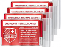 Emergency Mylar Thermal Blankets (4-Pack) + Bonus Signature Gold Foil Space Blanket: Designed for NASA, Outdoors, Hiking, Survival, Marathons or First Aid: Kitchen & Dining