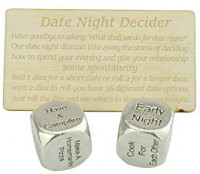 Date Night Dice 2 Metal Dice Gives 36 Possible Date Nights - Great Fun Date Night Idea: Toys & Games