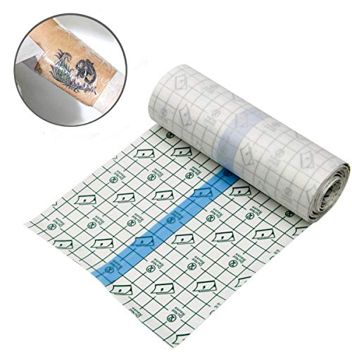 "Tattoo Aftercare Waterproof Bandage Transparent Film Dressing Second Skin Healing Protective Clear Adhesive Antibacterial Bandages Tattoo Supplies 6"" x1 Yard KeyEntre Tattoo Bandage Roll (15CM-100CM): Home Audio & Theater"