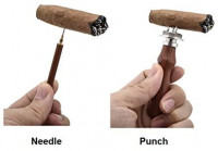 Cigar Punch Enhancer Tool & Nubber, Sangle Sopffy Cigar Draw with Wooden Handle | Cigar Poker for Piercing, Make Your Every Shot More Enjorable: Health & Personal Care