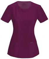 CHEROKEE Infinity Women's Scrub Set - 2624A Round Neck Top & 1123A Low Rise Straight Leg Drawstring Pants: Clothing