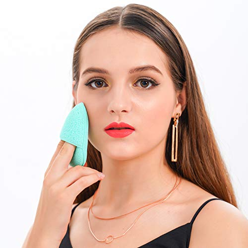 DUcare Facial Mask Mixing Set 4PCS with Silicon Face Mask Brush Manual Facial Cleansing Brushes Sponges Face Pad Puff DIY Facemask Mixing Tool Kit Green: Beauty