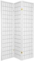 Oriental Furniture 6 ft. Tall Window Pane Shoji Screen - White - 3 Panels: Furniture & Decor