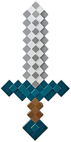 Minecraft Dungeons Deluxe Foam Roleplay Sword, Lifesize Battle Toy with Sound Effects for Active Play, Gift for Kids Age 6 and Older: Toys & Games
