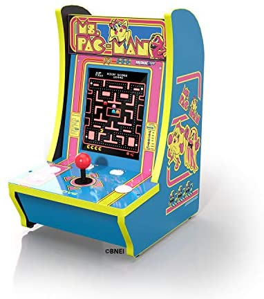 "Ms Pacman Arcade 1 Counter-Cade Top Real Feel Arcade Controls! 15.75"" High Includes Power Adapter, Instructions, and Ms. Pac-Man 1 Up Arcade: Toys & Games"