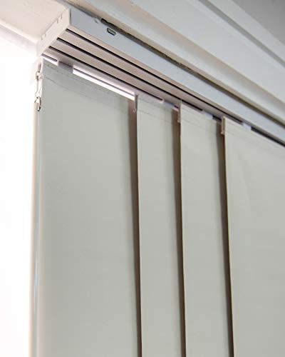 """CHICOLOGY 99.99% Adjustable Sliding Panels, Perfect Vertical Blinds for Large Windows/Open Spaces/Room Dividers Trimmable Length, Track Width X 96"""" H, Movie Night Silver (Blackout): Home & Kitchen"""