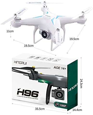 60 Mins Flight Time Drone, XINGRUI H96 RC Drone with 1080P HD Camera Live Video FPV Quadcopter with Headless Mode, Altitude Hold Helicopter with 3 Batteries(20Mins + 20Mins+ 20Mins): Toys & Games