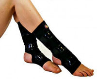 Mighty Grip Black Pole Dancing Ankle Protectors with Tack Strips for Gripping The Pole (1 Pair): Clothing
