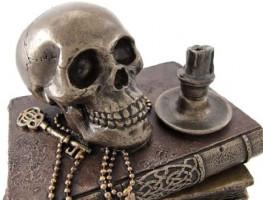Veronese Design Bronze Wizard`s Study and Skull Trinket Stash Box: Home & Kitchen