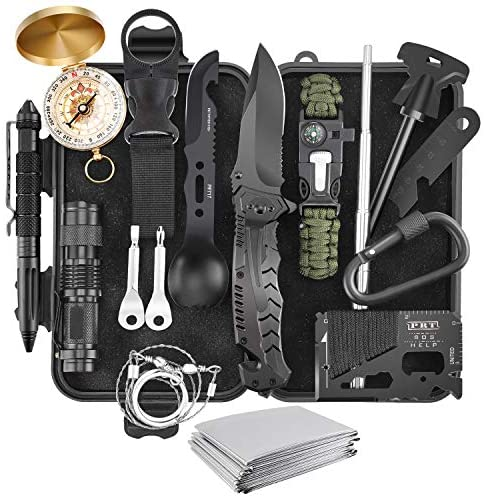 Verifygear Survival Kit, 17 in 1 Professional Survival Gear Equipment Tools First Aid Supplies for SOS Emergency Tactical Hiking Hunting Disaster Camping Adventures: Sports & Outdoors