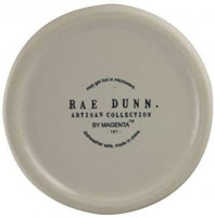 Rae Dunn Ceramic Honey Pot with Wooden Dipper (HONEY (Word Only)): Kitchen & Dining