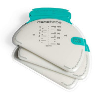 nanobébé 100 Breastmilk Storage Bags Refill Pack – Fast, Even Thawing & Warming – Breastfeeding Supplies Lay Flat to Save Space & Track Pumping – Breastmilk Bags for Freezer or Fridge … : Baby