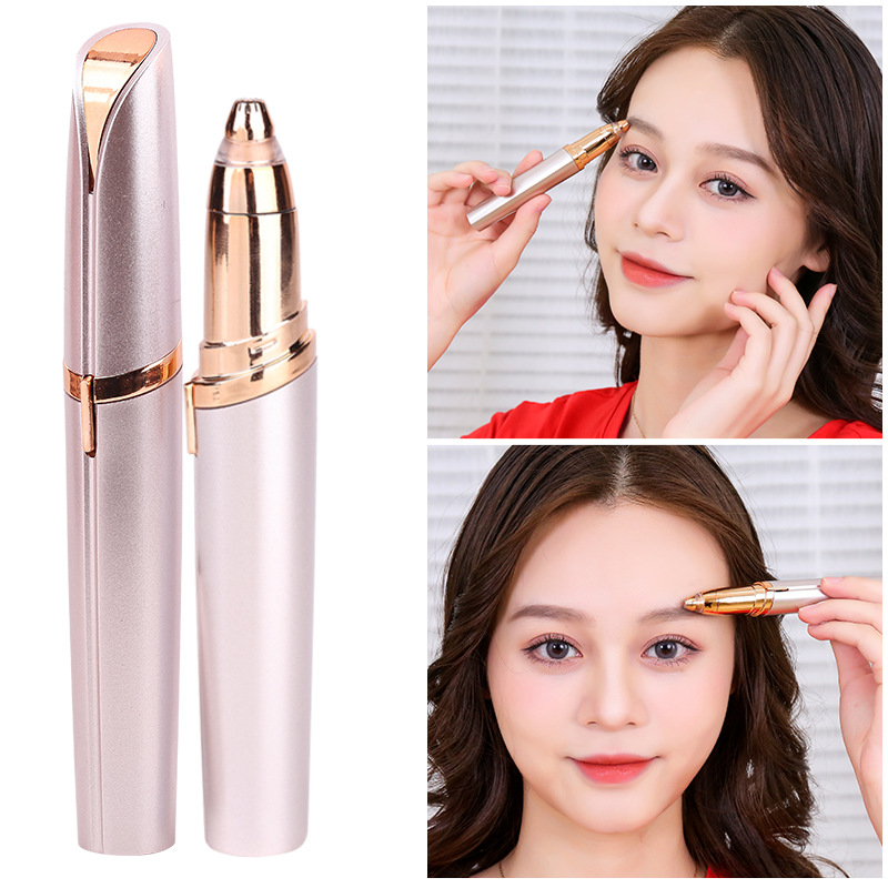 Electric Eyebrow Trimmer Lady Hair Removal Trimmer USB Charging Beauty Instrument Nose Hair Lipstick Shaving Artifact Eyebrow Trimmer
