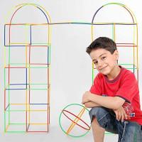 Yo!Wow STEM Straws Constructors Building Toys 700 pcs Creative Preschool Building Sets Kids Fun Colorful Interlocking Plastic Enginnering Toys Develops Motor Skills Building Blocks for Boys and Girls: Toys & Games