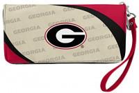 NCAA Georgia Bulldogs Curve Zip Organizer Wallet: Clothing