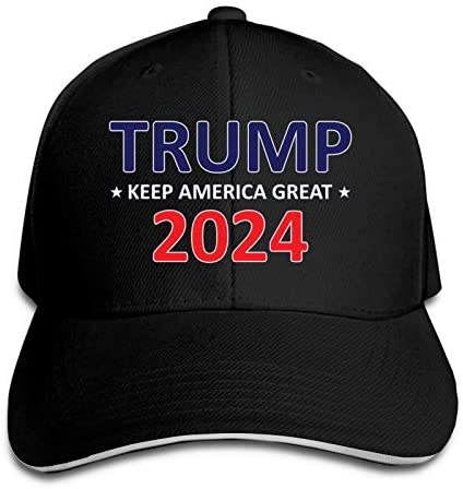 Trump 2024 Baseball Cap Flat Hat Adult Snapback Cap Dad Hat Navy at Men's Clothing store