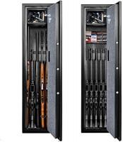Langger Gun Safe for Rifle, Upgraded Shotgun Quick Access, 5-Gun Large Rifle Gun Security Cabinet for Rifle Shotgun Firearms w/o Optics/Scopes with Pistol/Handgun Lock Box, Removable Storage Shelf: Home Improvement