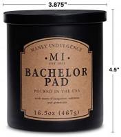 Manly Indulgence Bachelor Pad Jar Candle, 16.5 oz, Ivory: Home & Kitchen