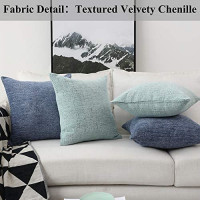 Home Brilliant Decorative Pillow Covers for Couch Throw Pillow Covers Sofa Bench, 2 Packs, 18x18 inches, Teal: Home & Kitchen
