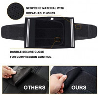 TAILONG Neoprene Waist Trimmer Ab Belt for Men Weight Loss Trainer Corset Slimming Body Shaper Workout Sauna Hot Sweat Band: Clothing