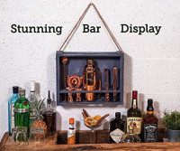 Mixology Bartender Kit: 11-Piece Bar Tool Set with Rustic Wood Stand | Perfect Home Bartending Kit and Cocktail Shaker Set For an Awesome Drink Mixing Experience (Copper): Kitchen & Dining