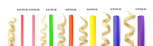 xnicx 47pcs 7'' Flexible Curling Rods Hair Twist Flexi Rods Flexible Rods Hair Curlers Set No Heat Hair Rollers Soft Foam for Short, Medium, Short hair : Beauty