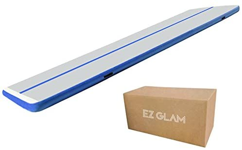 EZ GLAM 10ft/13ft/16ft/20ft Air Mat Tumble Track Inflatable Gymnastics Tumbling Track Mat with Electric Air Pump for Cheerleading/Practice Gymnastics/Beach/Park/Home use : Sports & Outdoors