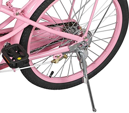 COEWSKE 20 Inch Kids Bike Fantasy-Style Children Leisure Bicycle with Basket Kickstand Included Fit for 6-10 Years Old Or 49-60 Inch Kids 3 Color : Sports & Outdoors