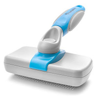 Slicker Dog Brush - Self Cleaning Slicker Brush for Cats and Dogs - Effective, Comfortable, and Super Easy to Clean - Perfect For Grooming Your Small and Large Cat or Dog.: Beauty
