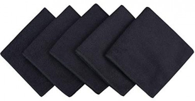 SINLAND Microfiber Dish Cloth Dish Rags for Washing Dishes Best Kitchen Cloths Cleaning Cloths with Poly Scour Side 12Inchx12Inch 10Pack Grey: Kitchen & Dining
