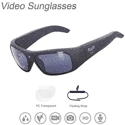 32GB Waterproof Video Sunglasses,1080 HD Outdoor Sports Action Camera and Polarized UV400 Protection Safety Lenses,Unisex Sport: Camera & Photo
