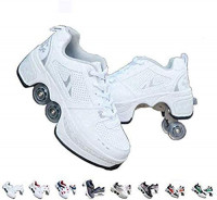 KYOKIM Roller Shoes Skate Shoes for Women Men, Boys Kids Wheel Shoes Roller Sneakers Shoes, for Unisex Beginners Gift : Sports & Outdoors