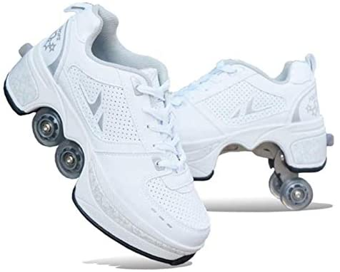 Deformation Roller Shoes Automatic Walking Shoes Invisible Roller Skate Double-Row Deform Wheel Deformation Parkour Shoes for Men Women Kids Teens: Arts, Crafts & Sewing