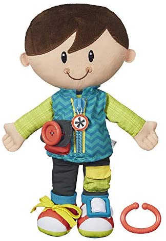 Playskool Dressy Kids Boy Activity Plush Stuffed Doll Toy for Kids and Preschoolers 2 Years and Up: Toys & Games