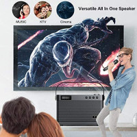 W WINBRIDGE Karaoke Machine with Wireless Microphone, Bluetooth Portable PA Speaker System Built in Soundcard Remote Control with Guitar Input, AUX/USB/SD for Professional Home KTV, Party, Speech T9: Musical Instruments