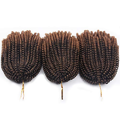 3 Pack Spring Twist Distressed Butterfly Locs Ombre Colors Crochet Braids Synthetic Braiding Hair Extensions Low Temperature Fiber (8Inch, Spring TBUG) : Beauty