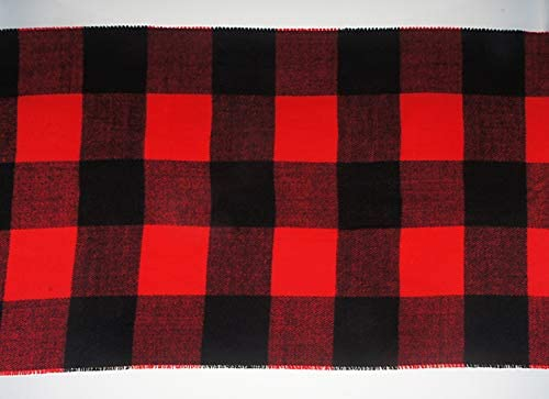 VIVIAN & VINCENT Womens Mens Boys Girls Soft Light Weight Buffalo Plaid Cashmere Scarf Red Black Check at Women's Clothing store