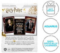 AQUARIUS Harry Potter Playing Cards - Wands Themed Deck of Cards for Your Favorite Card Games - Officially Licensed Harry Potter Merchandise & Collectibles - Poker Size with Linen Finish: Toys & Games