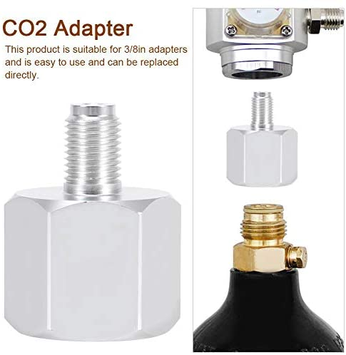 LUCKEG soda bottle adapter mini regulator adapter co2 adapter 3/8in brewing accessory Home brewing accessory Mini keg gas regulator Beer Keg Mini Regulator Adapter Home brew Co2 Adapter: Kitchen & Dining