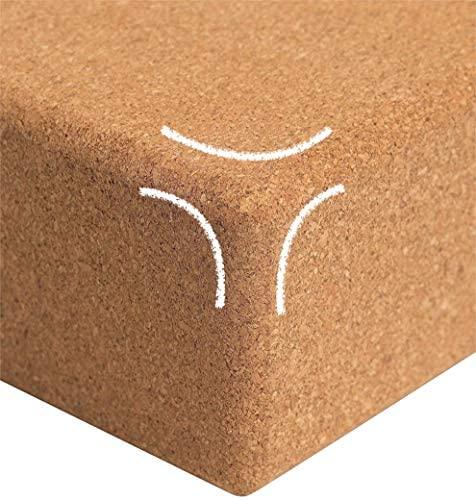 "Volcano Cork Yoga Block (2 Pack Set- Natural Cork from Portugal, Yoga Block Non-Slip&Anti-Tilt for Women| Men, Lightweight, Odor-Resistant and Moisture-Proof, Perfect Yoga Equipment 9""x6""x3"" : Sports & Outdoors"