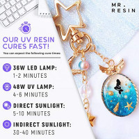 Mr. Resin (500g) UV Resin Crystal Clear Resin Kit + Resin Accessories Use in: Keychain Making Kit, Jewelry Making Kit, Cure with UV Lamp and Sunlight!: Industrial & Scientific