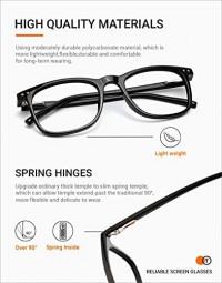 TIJN Blue Light Glasses 2 Pack Square Lightweight Computer Blue Light Blocking Glasses for Women Men Anti Eyestrain: Clothing