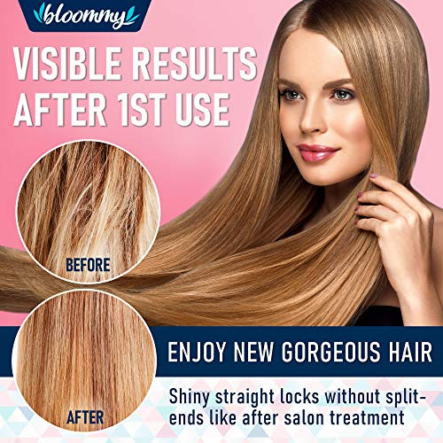 Bloommy Biotin Collagen Keratin Shampoo for Dry & Damaged Hair - Made in USA - Repairs Thickens Nourishes Hair - Infused with Argan Oil, Jojoba Oil, Silk Proteins - Paraben & Silicone Free -8 oz : Beauty