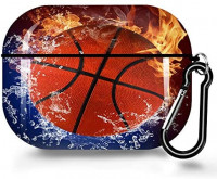 Basketball Flame AirPods Pro Case Cover,Soft TPU AirPods Pro Case Shockproof Silicone Waterproof Protective AirPods Pro Skin Cover Case for Airpods Pro Charging Case for iPhone 11/11 Pro/11 Pro Max/7: Home Audio & Theater