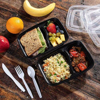Meal Prep Containers [50 Pack] 2 Compartment with Lids, Food Storage Containers, Bento Box Microwave/Dishwasher/Freezer Safe, Supernal: Kitchen & Dining