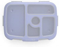 Bentgo Kids Brights Tray (Turquoise) with Transparent Cover - Reusable, BPA-Free, 5-Compartment Meal Prep Container with Built-In Portion Control for Healthy At-Home Meals and On-the-Go Lunches: Serving Trays