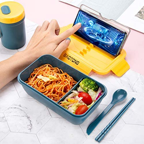 Bento Box With Meal Cup And Lunch Bag  Lunch Tote For Adults, Men & Women, Kids  Insulated   PBA free  Leak Proof: Kitchen & Dining