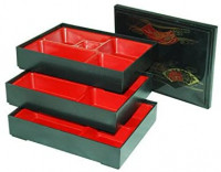 THY COLLECTIBLES Set of 3 Japanese Lunch Bento Boxes/Food Carrier/Food Storage & Organization Container: Kitchen & Dining