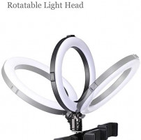 """8"""" Selfie Ring Light with Bluetooth Remote LED Ringlight Kit with 50"""" Extendable Tripod Stand & Flexible Phone Holder Adjustable Color Temperature for Live Stream Vlog, Makeup, YouTube: Camera & Photo"""