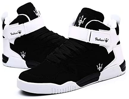 KUXIE Shoes Men's High Top Fashion Sneakers Outdoor Casual Sports Shoes Training Leather Shoes Mens Flats | Fashion Sneakers